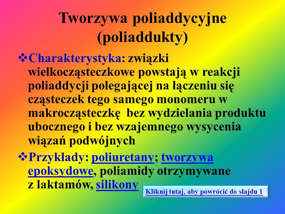 Tworzywa poliaddycyjne (poliaddukty)