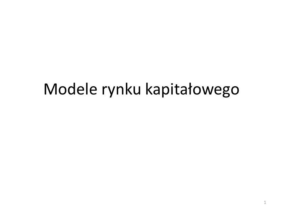 Modele rynku kapitałowego