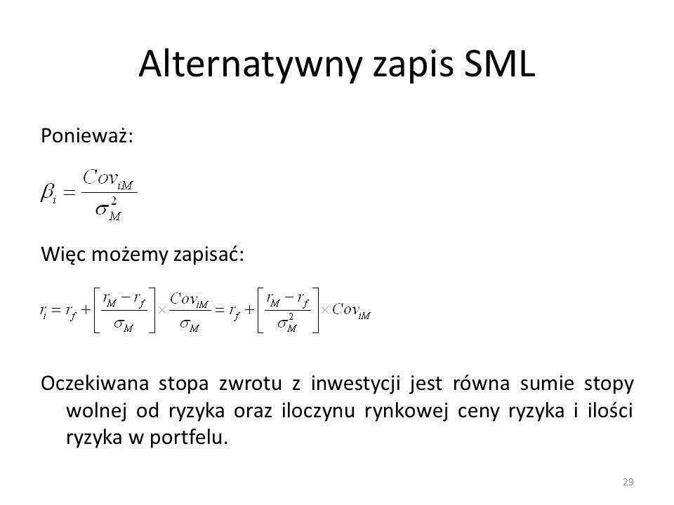 Alternatywny zapis SML