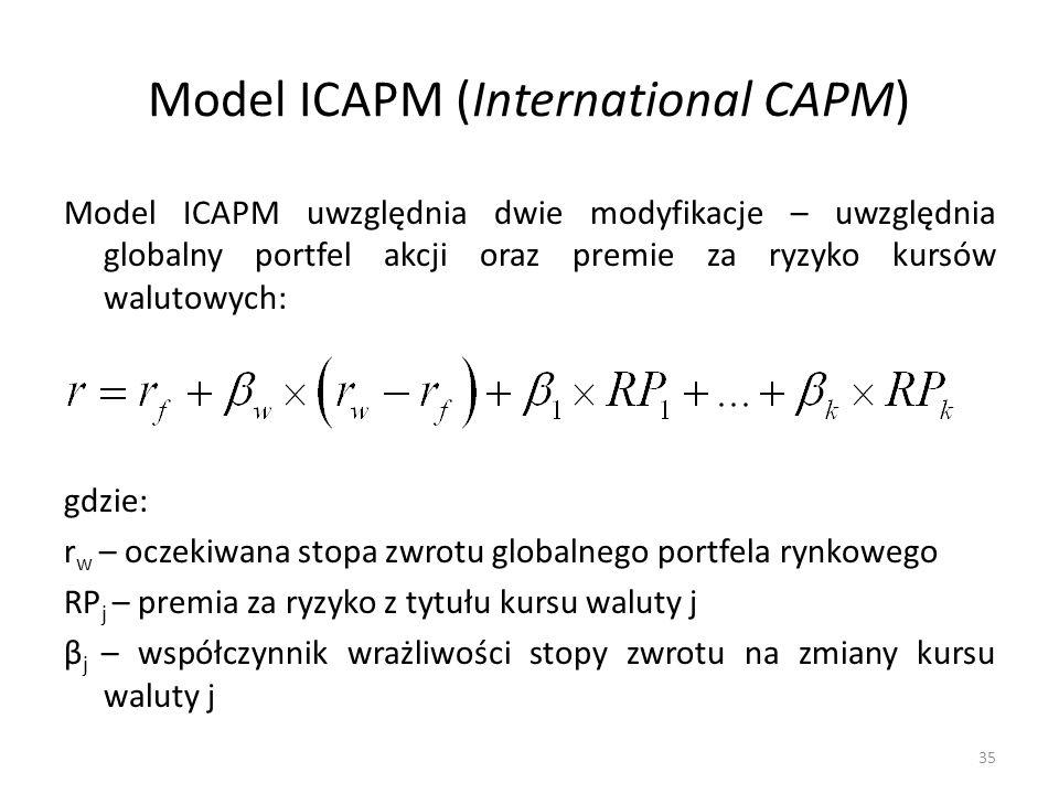 Model ICAPM (International CAPM)