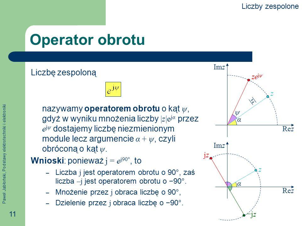 Operator obrotu Liczbę zespoloną