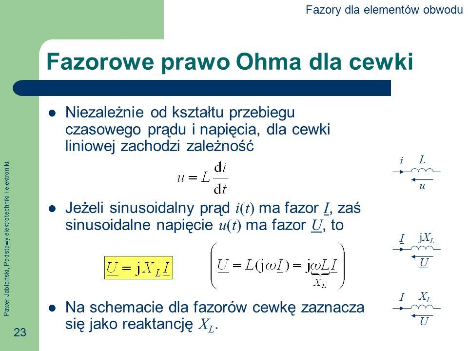 Fazorowe prawo Ohma dla cewki
