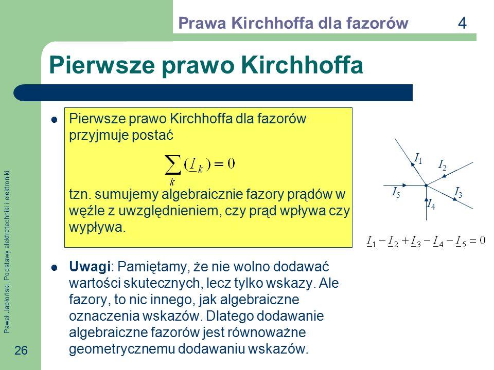 Pierwsze prawo Kirchhoffa