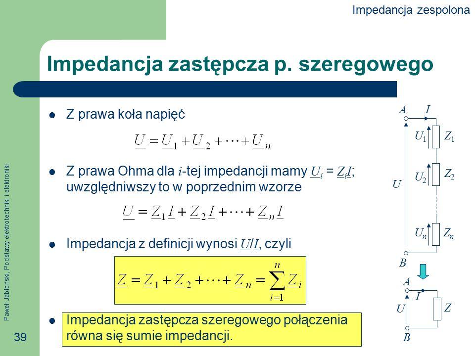 Impedancja zastępcza p. szeregowego
