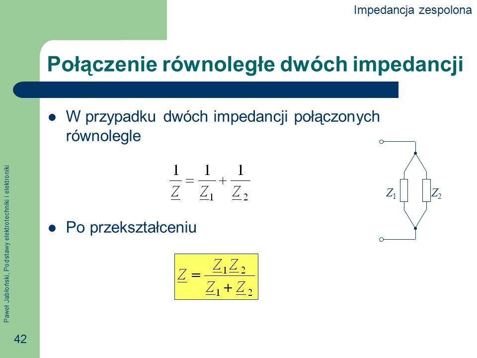 Połączenie równoległe dwóch impedancji