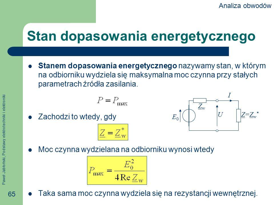 Stan dopasowania energetycznego