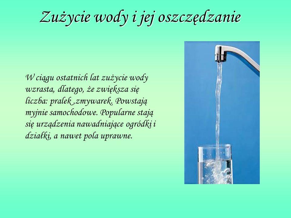 Zużycie wody i jej oszczędzanie