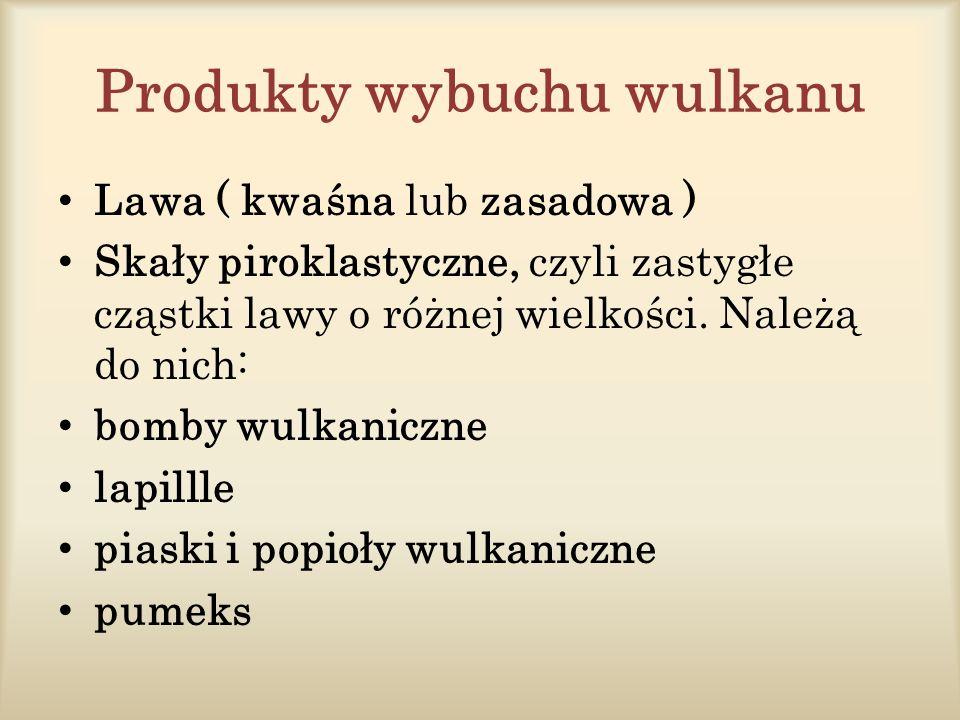 Produkty wybuchu wulkanu
