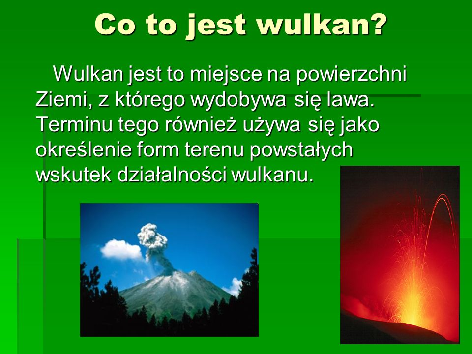 Co to jest wulkan