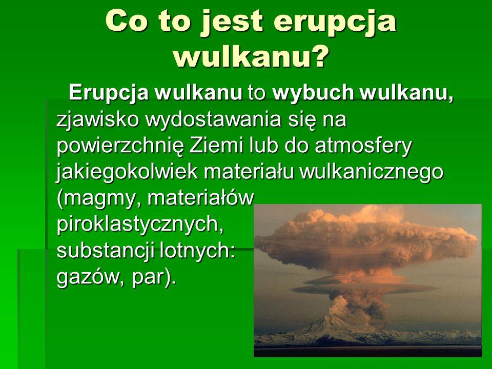Co to jest erupcja wulkanu