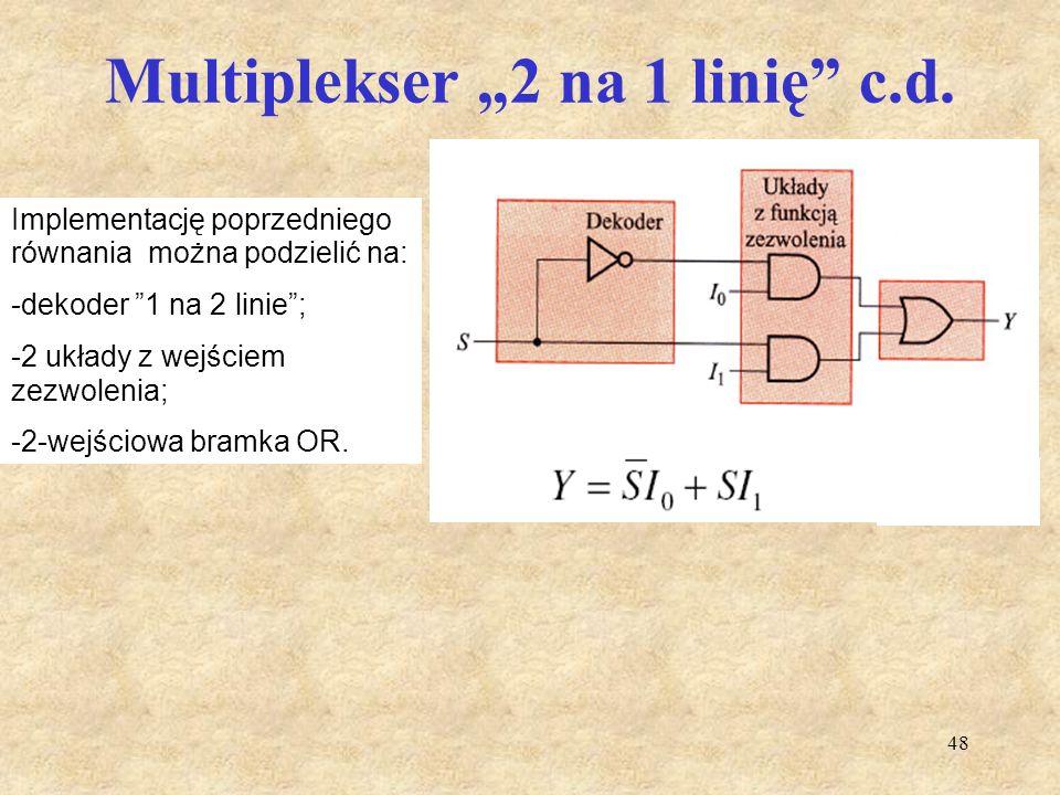 "Multiplekser ""2 na 1 linię c.d."