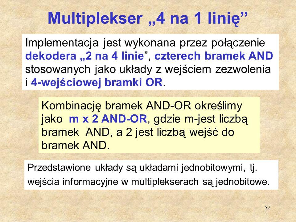 "Multiplekser ""4 na 1 linię"