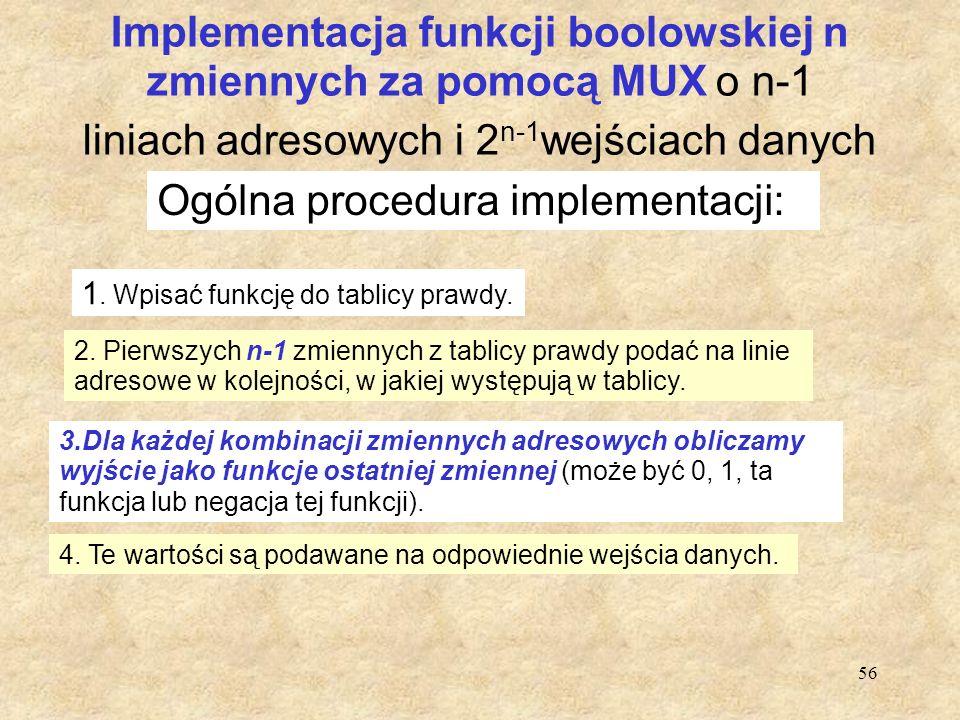 Ogólna procedura implementacji: