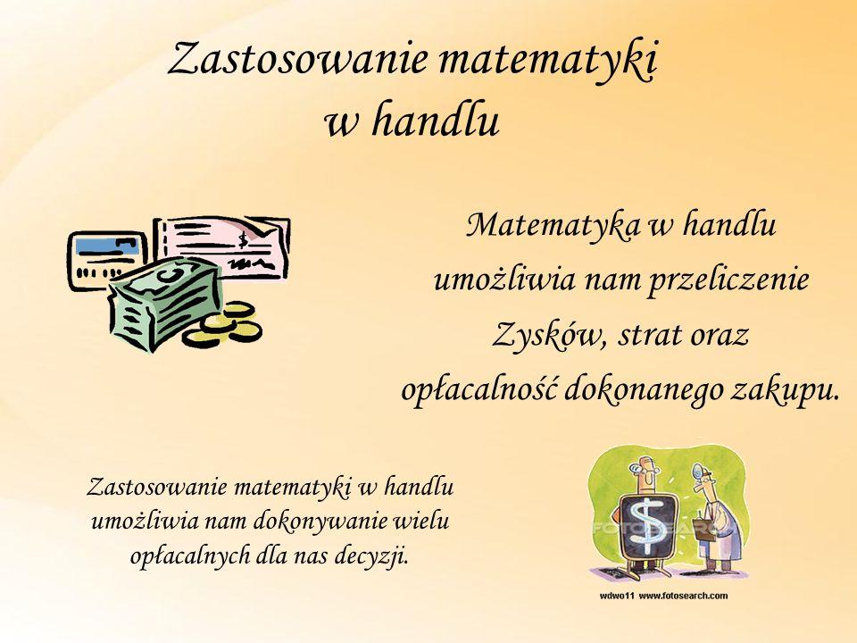 Zastosowanie matematyki w handlu