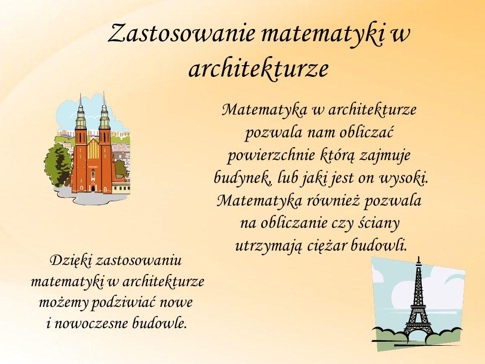 Zastosowanie matematyki w architekturze