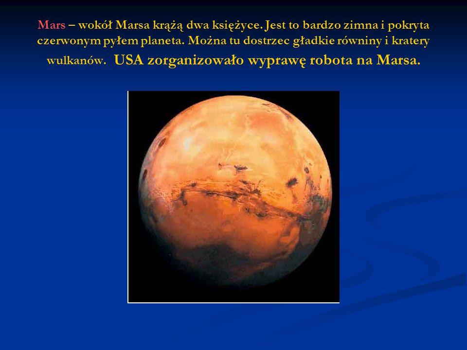 Mars – wokół Marsa krążą dwa księżyce