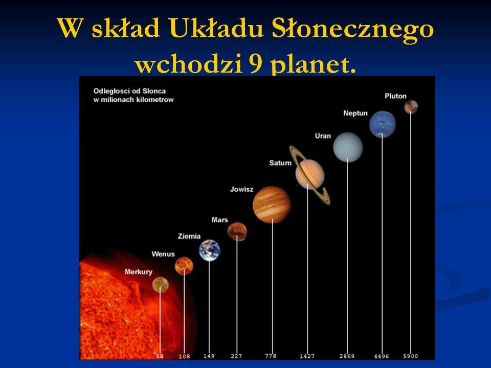 W skład Układu Słonecznego wchodzi 9 planet.