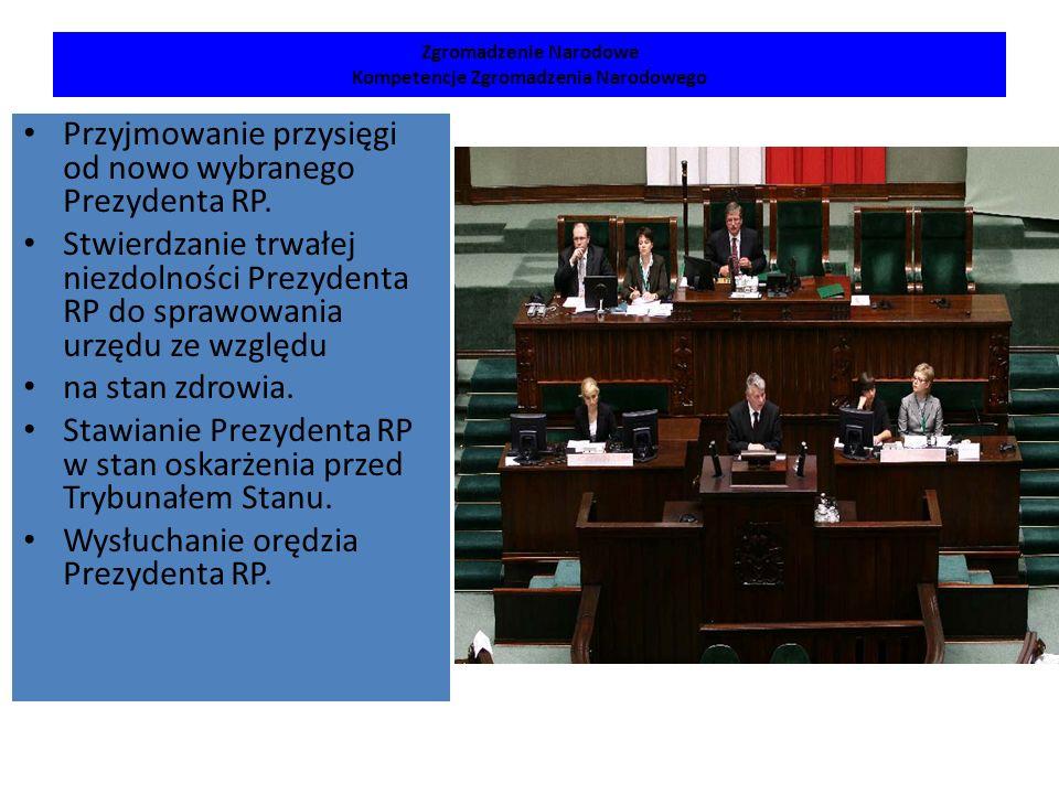 Zgromadzenie Narodowe Kompetencje Zgromadzenia Narodowego