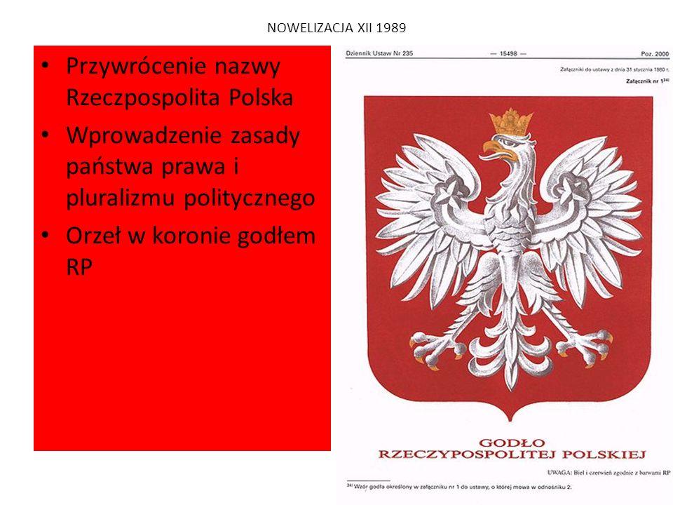 Przywrócenie nazwy Rzeczpospolita Polska
