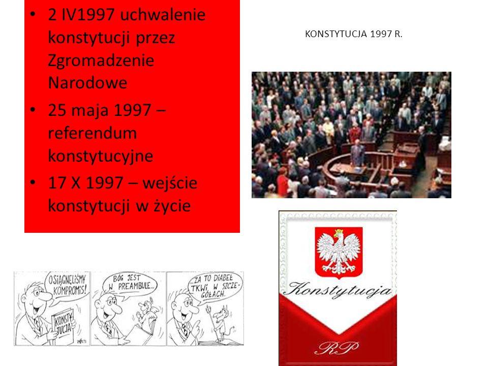 2 IV1997 uchwalenie konstytucji przez Zgromadzenie Narodowe