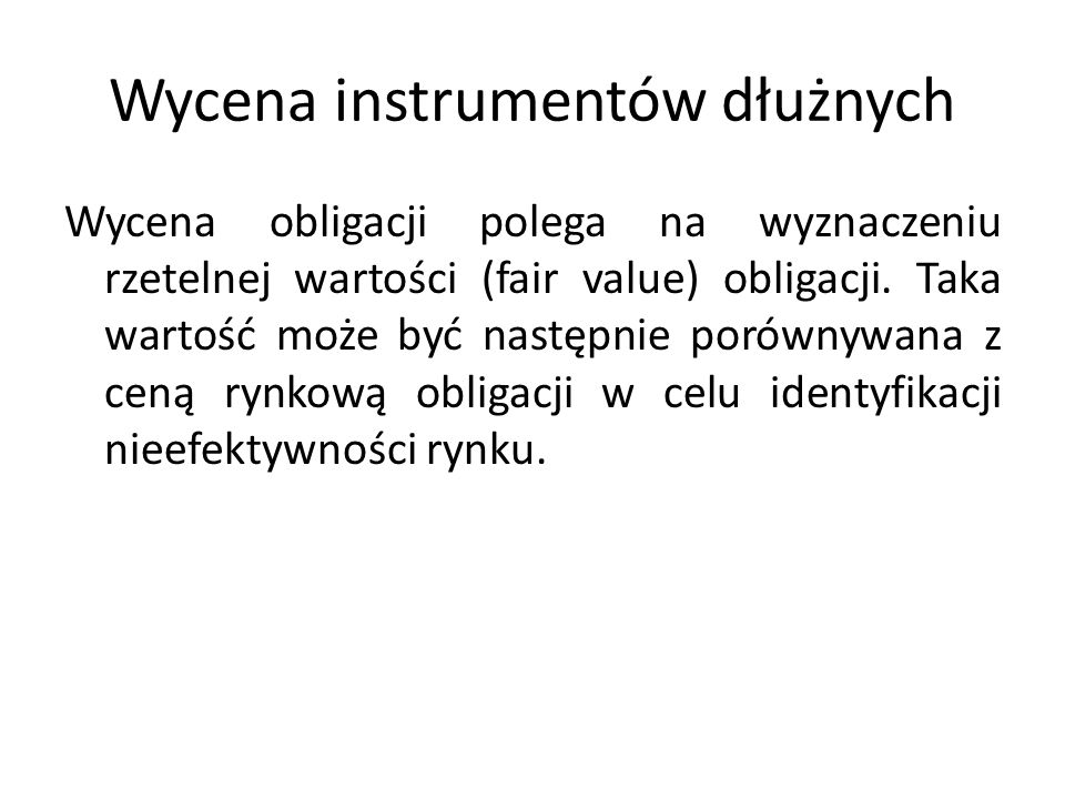 Wycena instrumentów dłużnych
