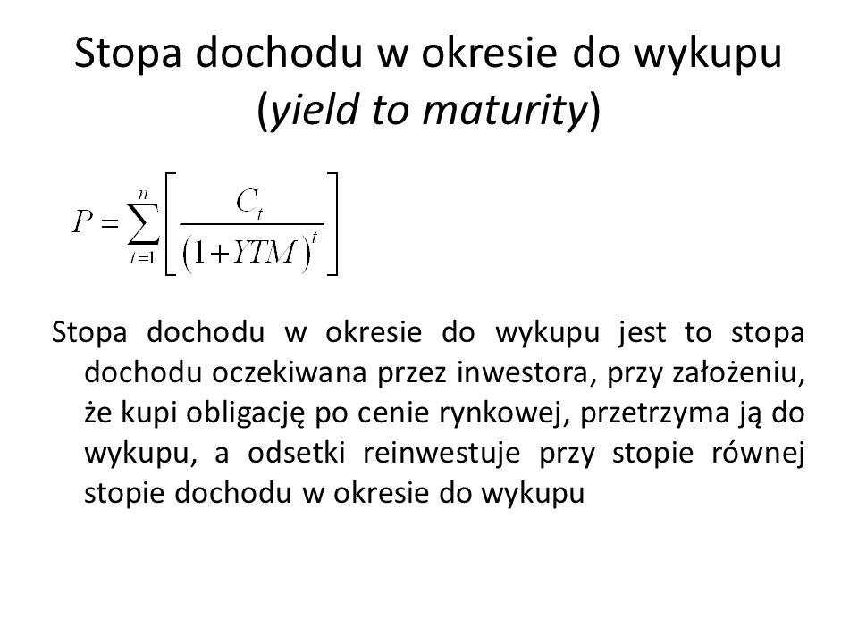 Stopa dochodu w okresie do wykupu (yield to maturity)