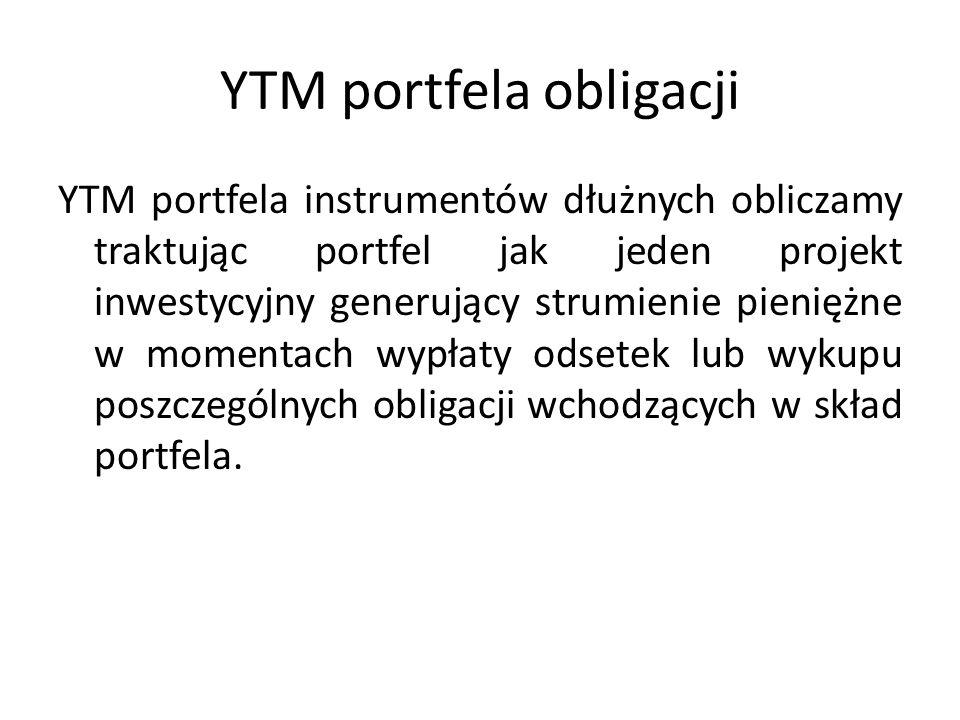 YTM portfela obligacji