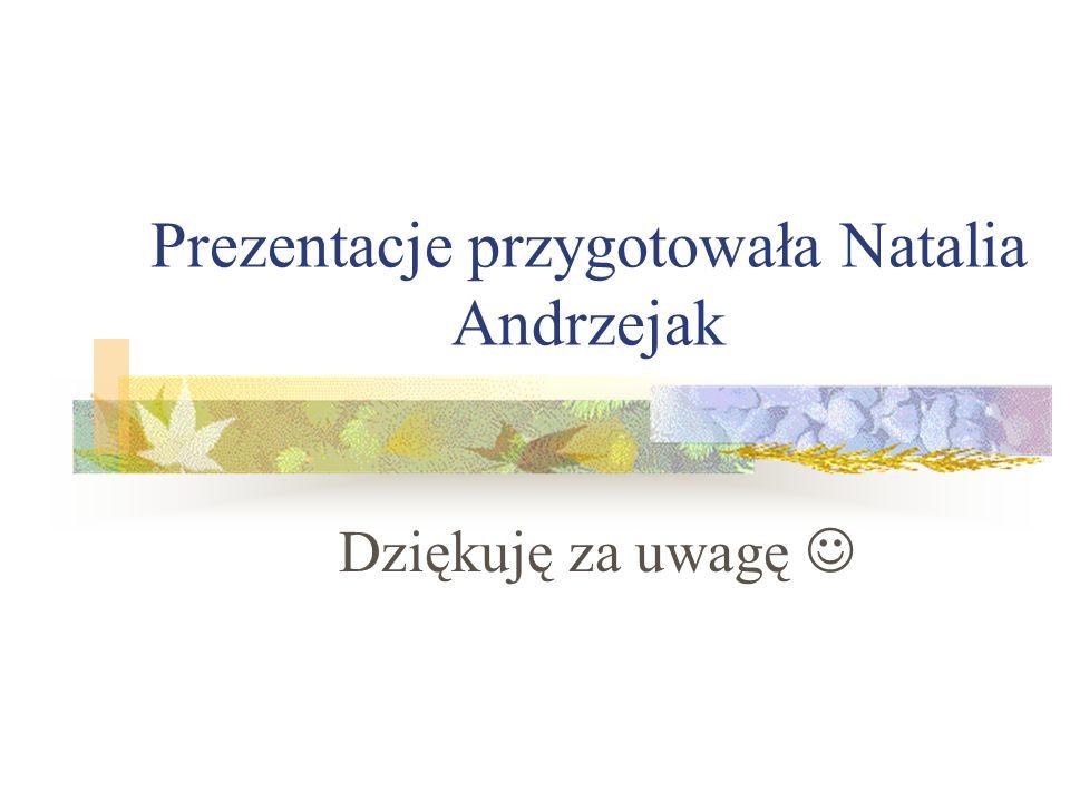 Prezentacje przygotowała Natalia Andrzejak