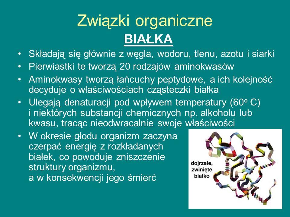 Związki organiczne BIAŁKA