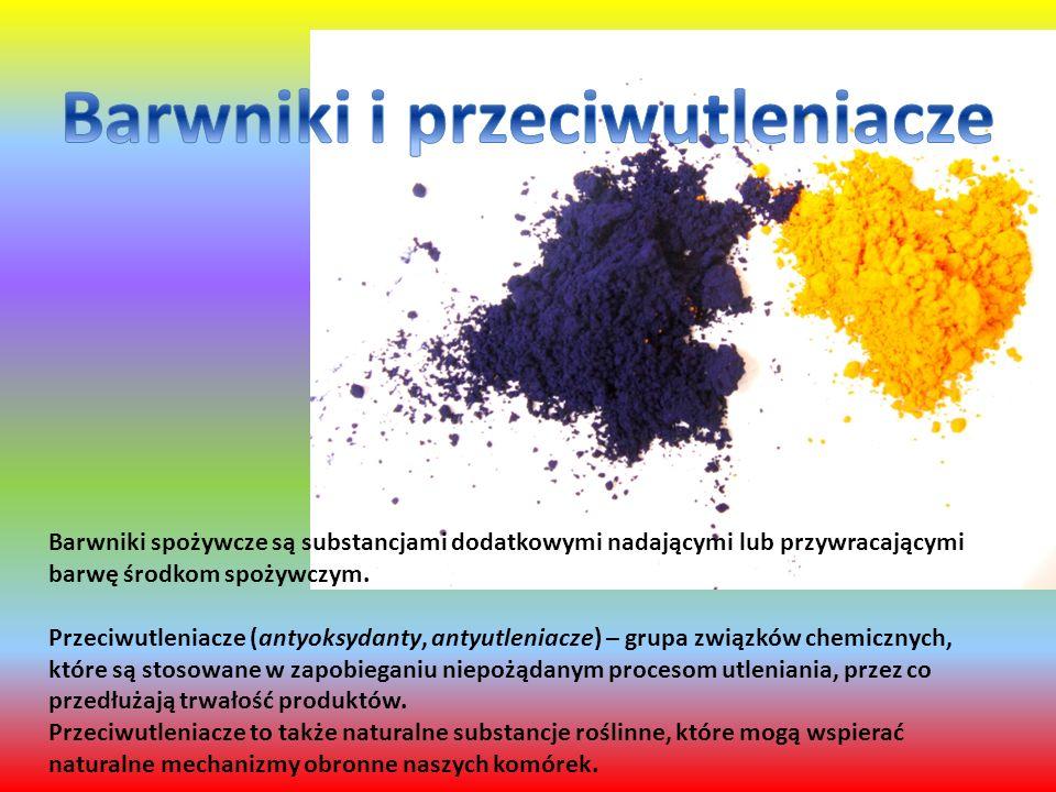 Barwniki i przeciwutleniacze