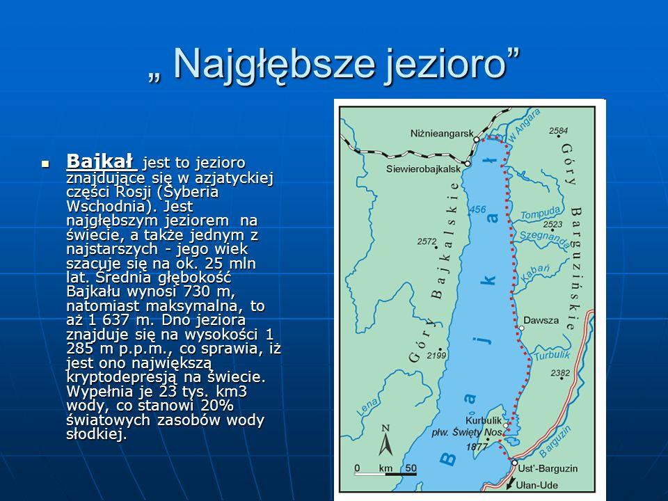 """"""" Najgłębsze jezioro"""