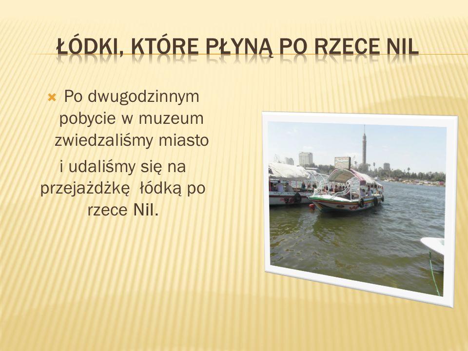 Łódki, które płyną po rzece nil