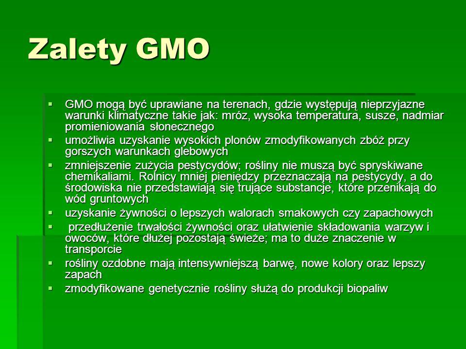 Zalety GMO