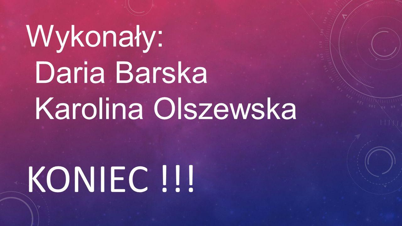 Wykonały: Daria Barska Karolina Olszewska