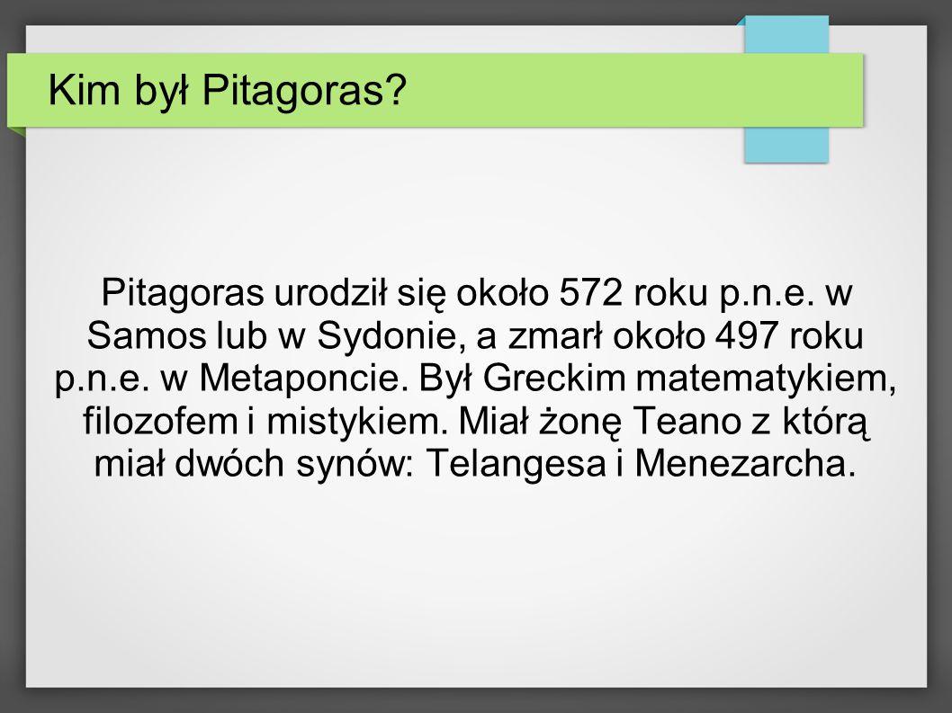 Kim był Pitagoras
