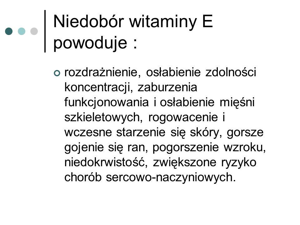 Niedobór witaminy E powoduje :