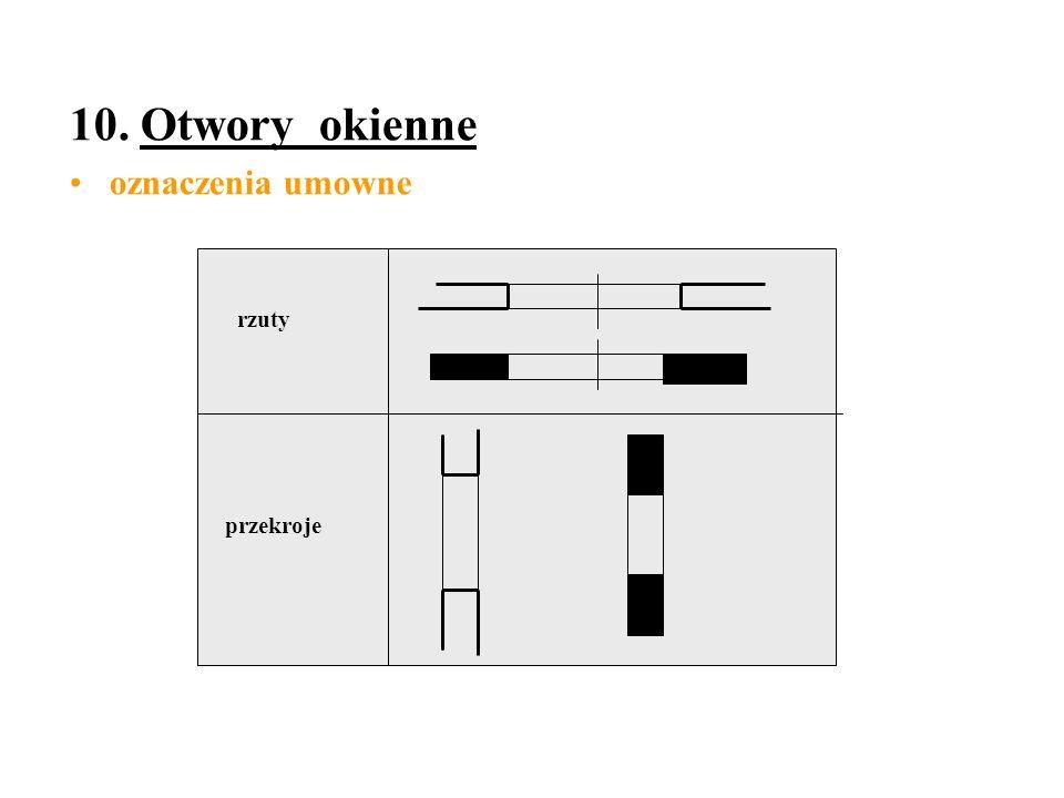 10. Otwory okienne oznaczenia umowne rzuty przekroje