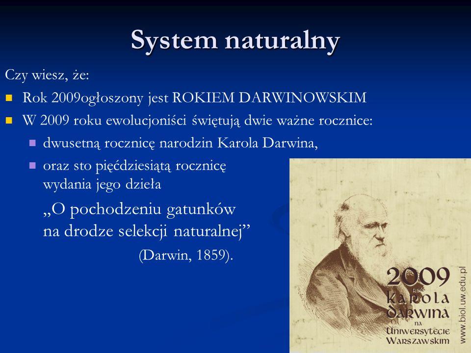 System naturalny Czy wiesz, że:
