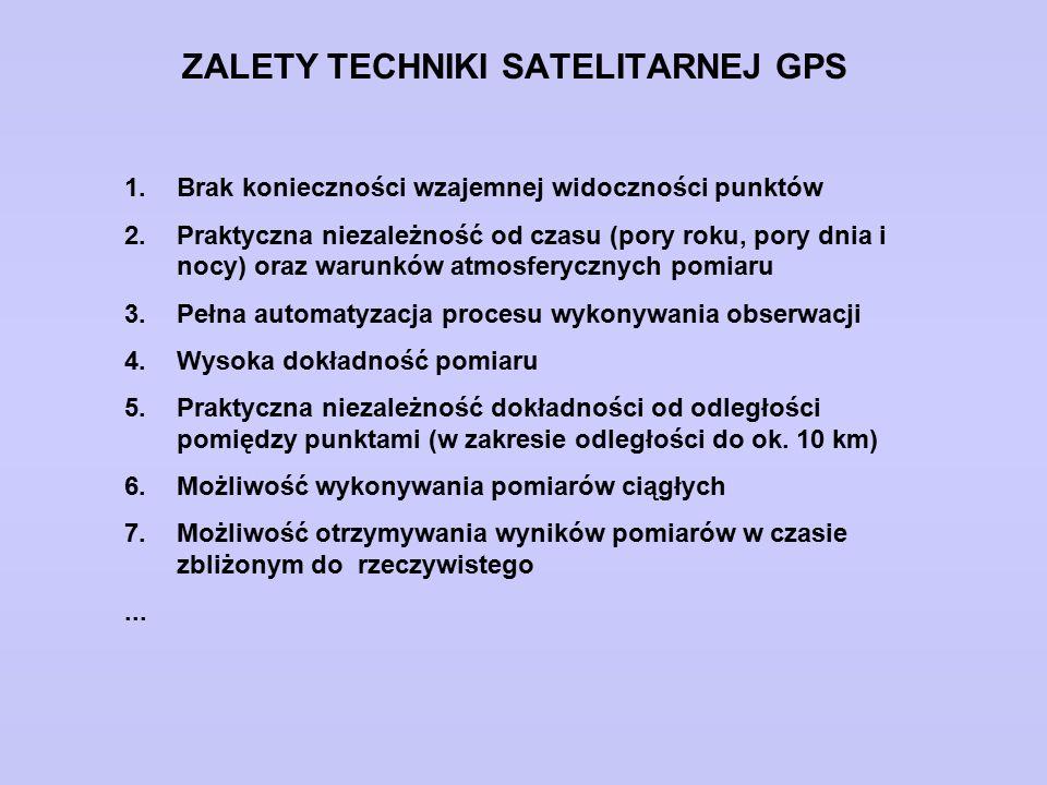 ZALETY TECHNIKI SATELITARNEJ GPS