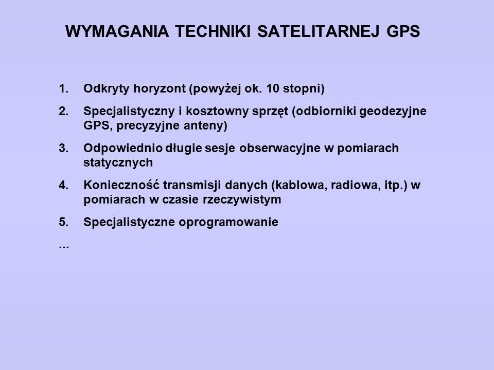 WYMAGANIA TECHNIKI SATELITARNEJ GPS