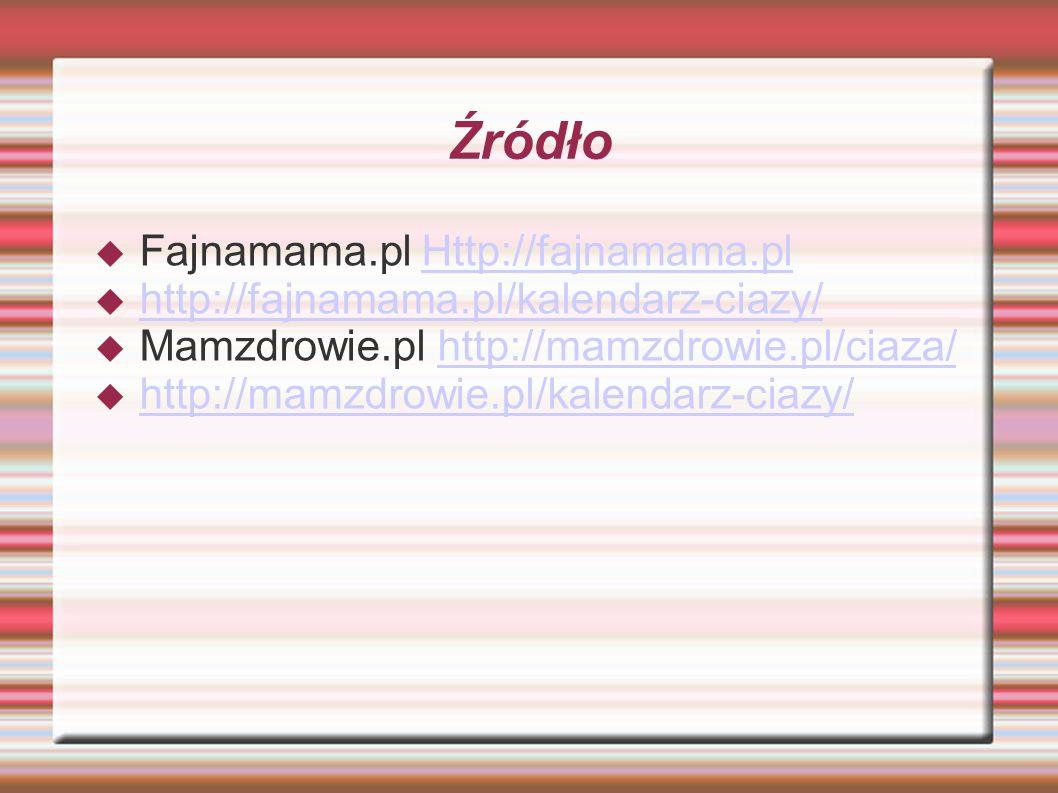 Źródło Fajnamama.pl Http://fajnamama.pl