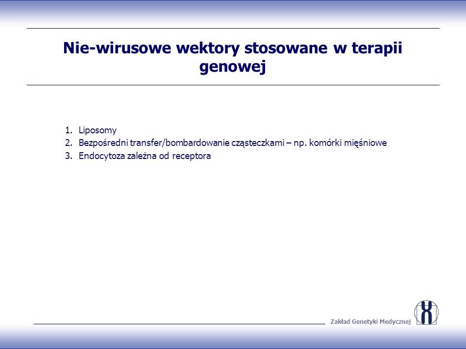 Nie-wirusowe wektory stosowane w terapii genowej