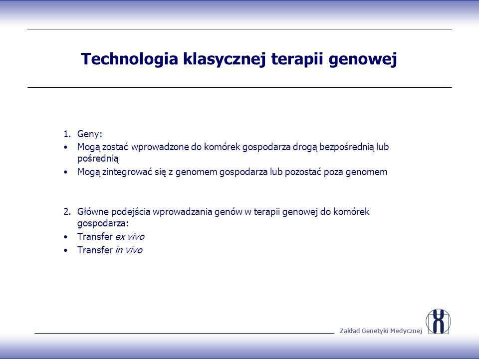 Technologia klasycznej terapii genowej