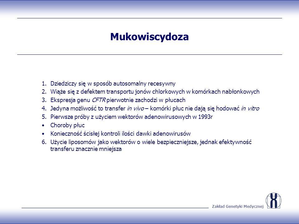 Mukowiscydoza Dziedziczy się w sposób autosomalny recesywny