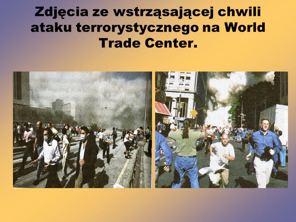 Zdjęcia ze wstrząsającej chwili ataku terrorystycznego na World Trade Center.