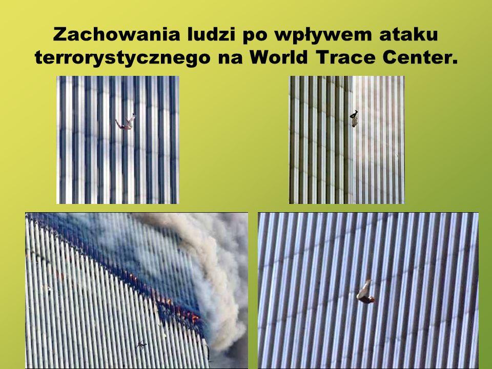 Zachowania ludzi po wpływem ataku terrorystycznego na World Trace Center.