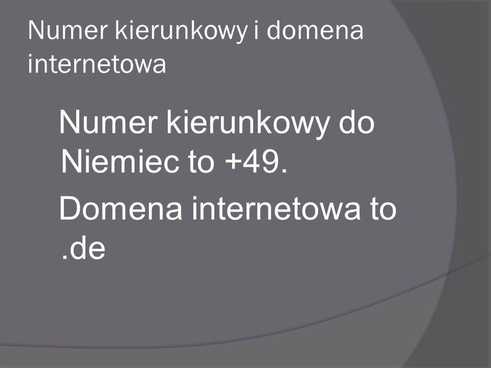 Numer kierunkowy i domena internetowa