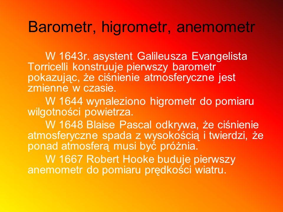 Barometr, higrometr, anemometr