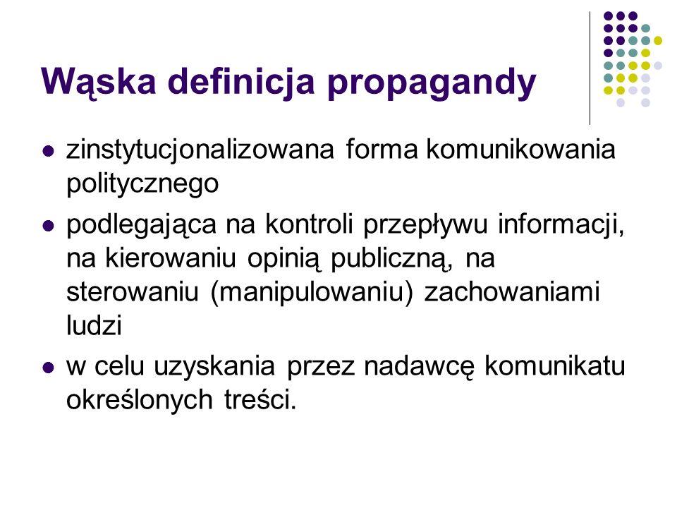 Wąska definicja propagandy