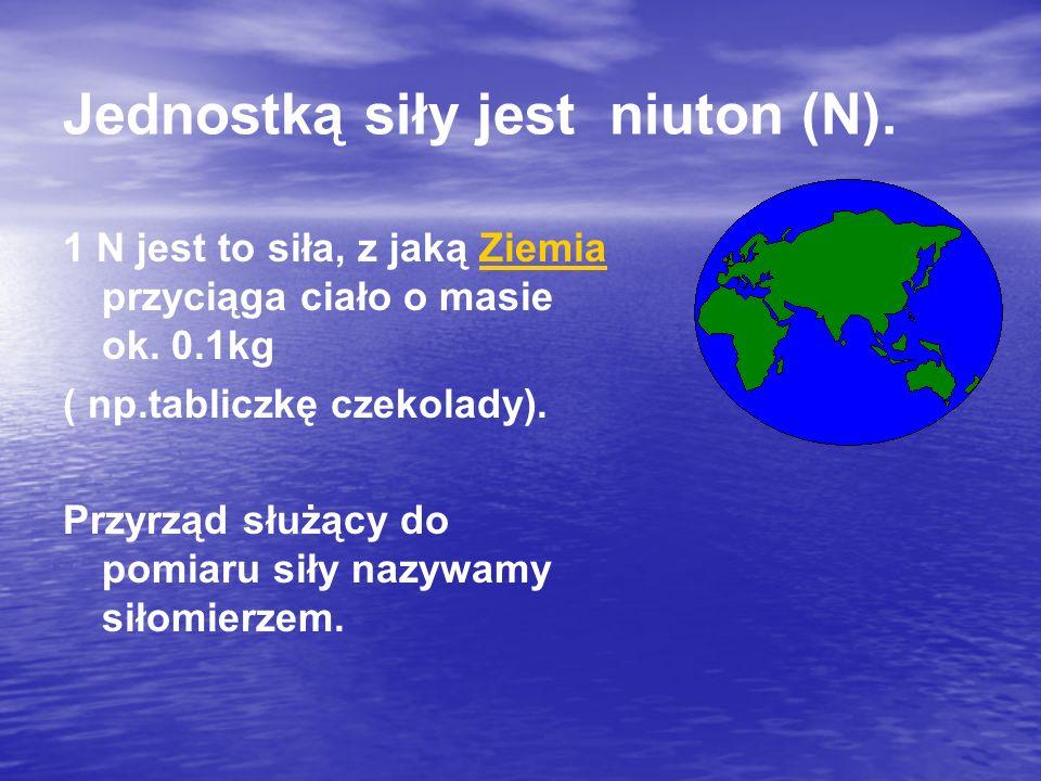 Jednostką siły jest niuton (N).